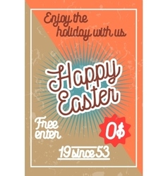 Color vintage easter banner vector image