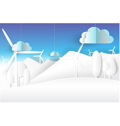Eco environment nature white and blue skypaper vector