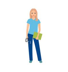 female character of logopedist vector image vector image