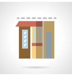 Flower shop facade flat color icon vector image