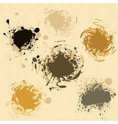 grunge blobs vector image