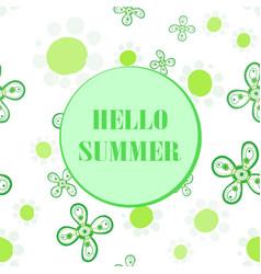 Hello summer flyer cover seamless design vector