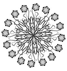 Henna beautiful deco black floral mandala vector