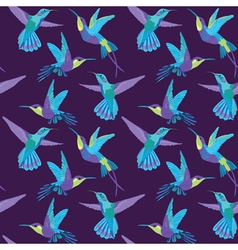 Hummingbird Background - Retro seamless pattern vector image vector image