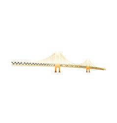 Icon bridge vector
