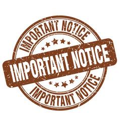 Important notice vector