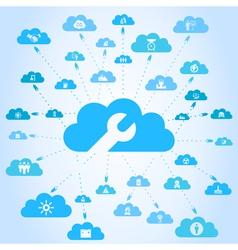 Industry a cloud vector
