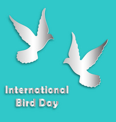 International bird day dove vector