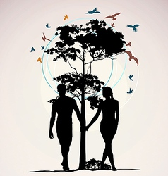 nature people vector image vector image