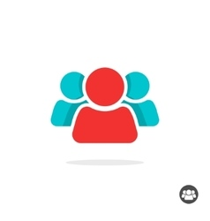 People icon isolated group of three vector image