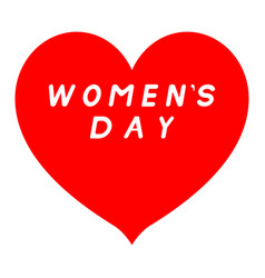 Red heart sharp tip for womens day with white vector