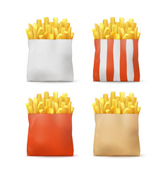 Set of potatoes french fries vector
