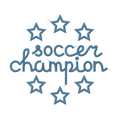 soccer champion decoration vector image vector image