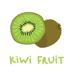 square card with hand drawn kiwi fruit vector image