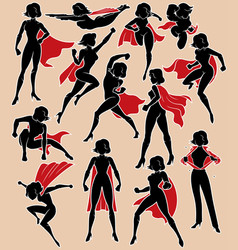 super heroine in action vector image vector image