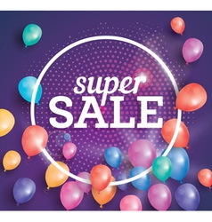 Super Sale poster on pink background vector image vector image