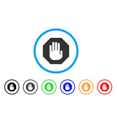 terminate rounded icon vector image vector image