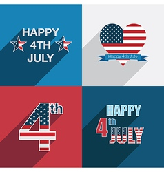 usa decorations vector image vector image