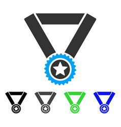 winner medal flat icon vector image vector image