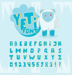 yeti font vector image