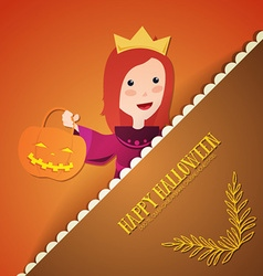 With halloween and princess vector