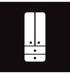 Flat icon in black and white style cupboard vector