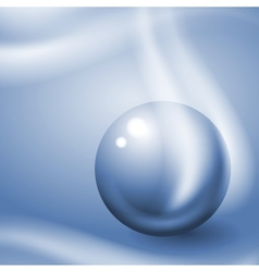 Metal ball in blue tone vector