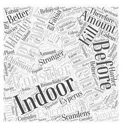 Indoor gardening word cloud concept vector