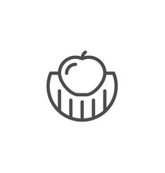 Fruit and vegetable growing line icon vector
