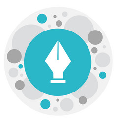 Of knowledge symbol on ink pen vector