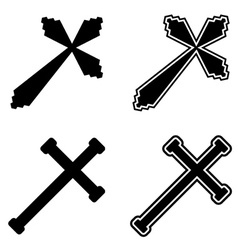 Christian crosses vector