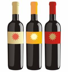Wine bottles set vector