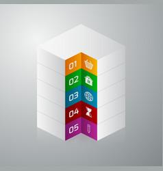 Isometric square info graphics vector