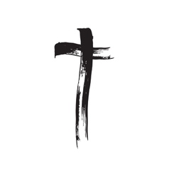 Christian cross grunge vector