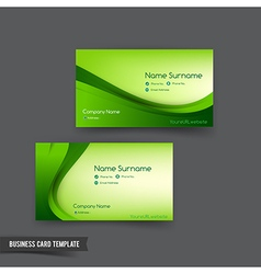 Business card template set 048 green curve element vector