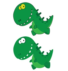 Little funny dino vector