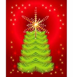 abstract background with holiday tree vector image