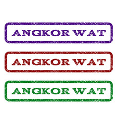 Angkor wat watermark stamp vector