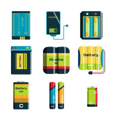 battery energy tool electricity charge fuel vector image