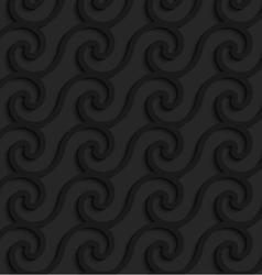 Black 3d horizontal spiral waves vector image vector image