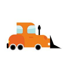 bulldozer isolated transport on white background vector image