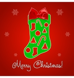 Christmas Greeting Card Merry Christmas text vector image
