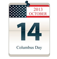 Columbus Day 2013 vector image vector image