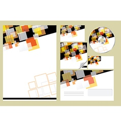 Editable corporate Identity template vector image vector image
