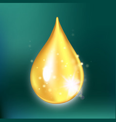 glitter collagen drop oil drop with effects vector image vector image