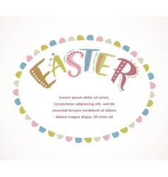 Happy easter - card vector