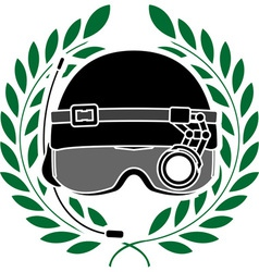 Military helmet vector