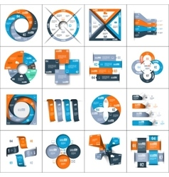 Modern paper infographics set vector image