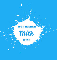 natural fresh milk splash vector image vector image