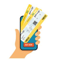 Online booking ticked buy ticket online vector